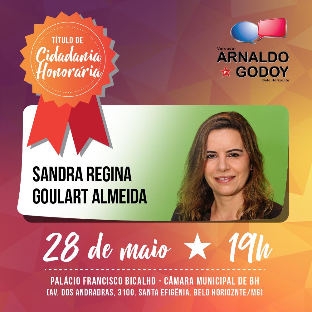 CIDADANIA HONORÁRIA - Sandra Goulart